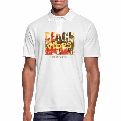 beach vibes street style - Männer Poloshirt