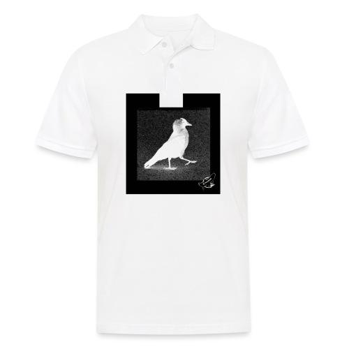Cool Jackdaw by BlackenedMoonArts, w. logo - Herre poloshirt