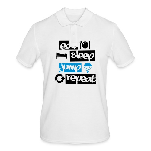 Eat Sleep Jump Repeat - Männer Poloshirt