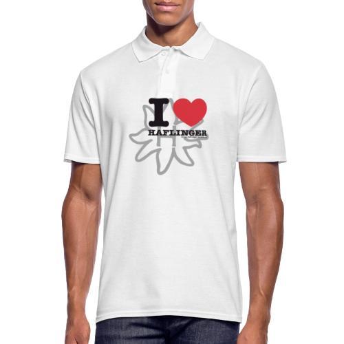 I love Haflinger - Männer Poloshirt