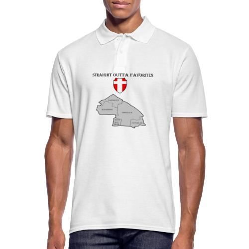 straight outta favoriten wien - Männer Poloshirt