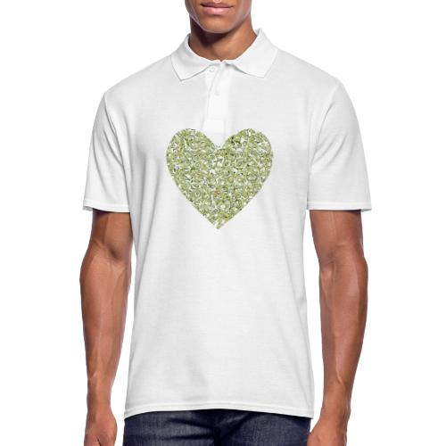 Herz abstrakt mit avocado hintergrund - Männer Poloshirt