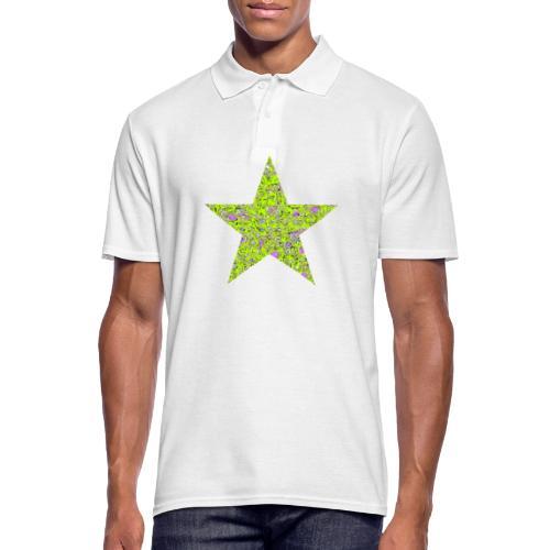 Stern psychedelisch - Männer Poloshirt