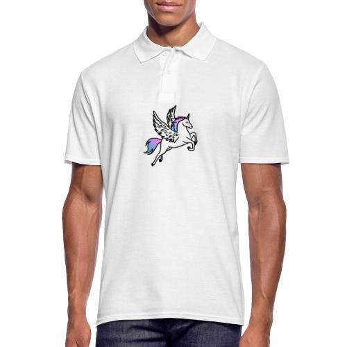 Fliegendes Einhorn - Männer Poloshirt