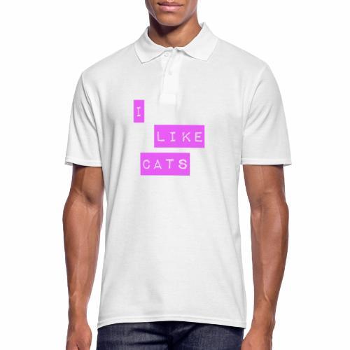 I like cats - Men's Polo Shirt