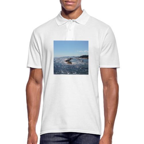 Mer avec roches - Polo Homme