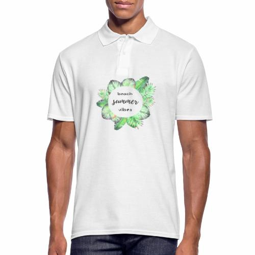 beach vibes - Männer Poloshirt