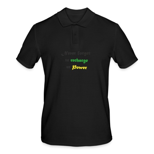 Recharge ur power saying in English - Men's Polo Shirt