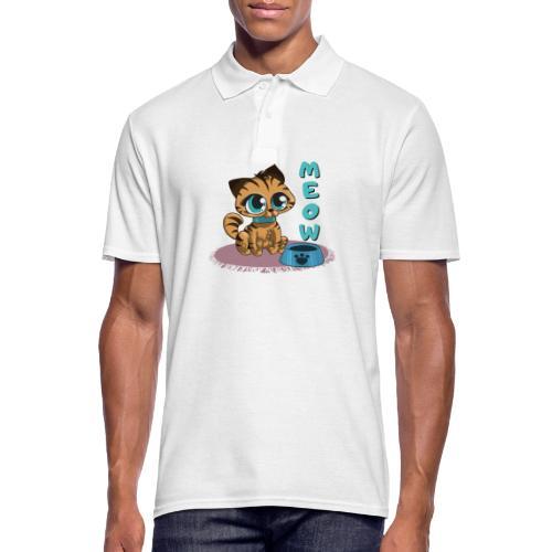 Meow - Männer Poloshirt