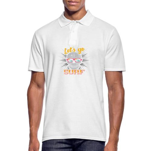 Surf till Death - Männer Poloshirt