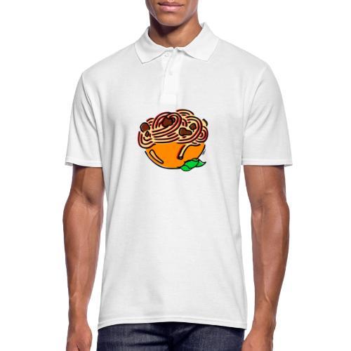 Schüssel Spaghetti - Männer Poloshirt
