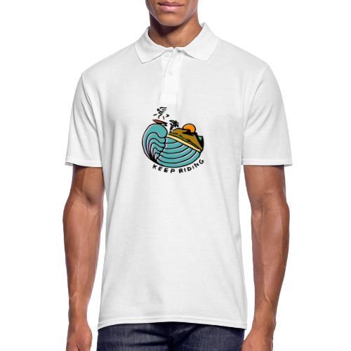 Surfer im Sonnenuntergang - Männer Poloshirt