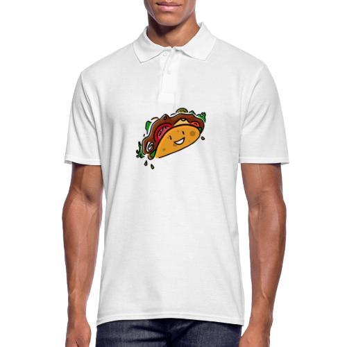 Glücklicher Taco - Männer Poloshirt