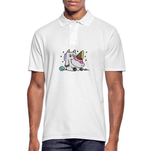 Eis Einhorn - Männer Poloshirt