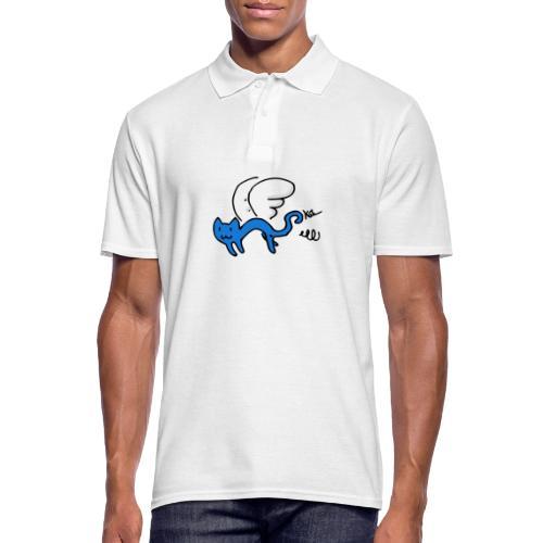 Fliegendes Kätzchen - Männer Poloshirt