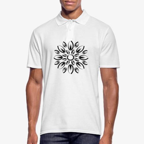 etnic flower - Polo Homme