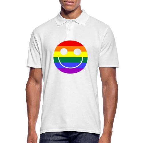Regenbogen Smilie 1 - Männer Poloshirt