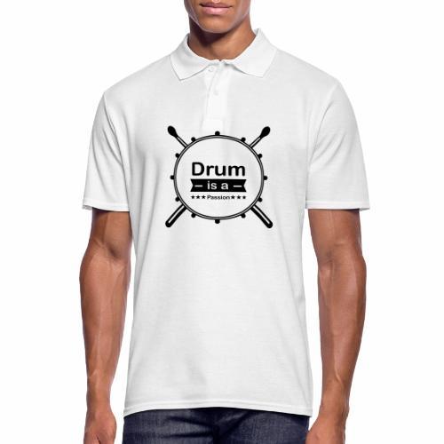 Drum is a passion - Männer Poloshirt