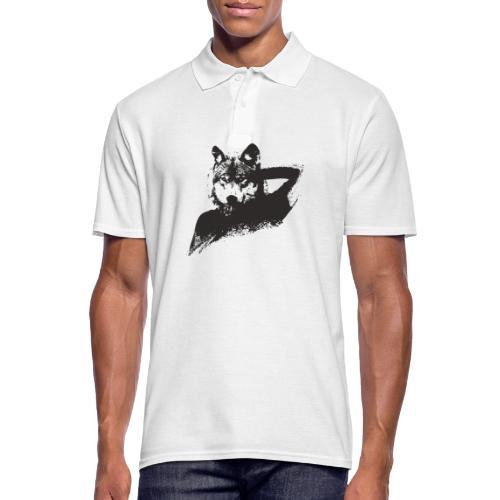 illustration zoom loup noir - Polo Homme
