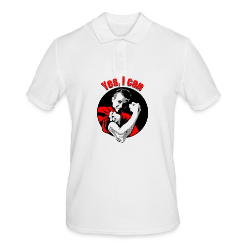 Yes I can rood - Mannen poloshirt