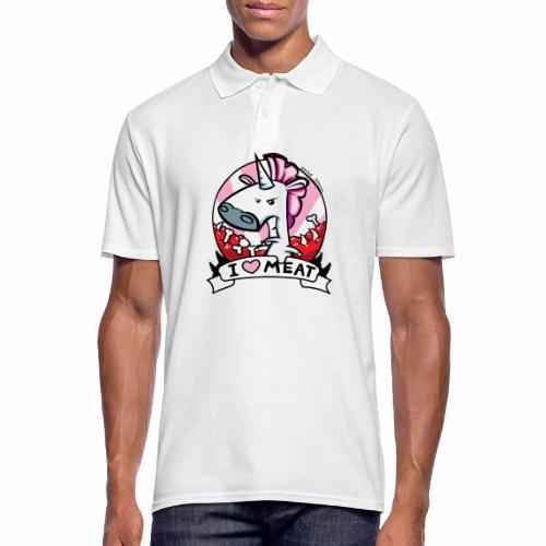 I love Meat by Nina-Nice - Männer Poloshirt