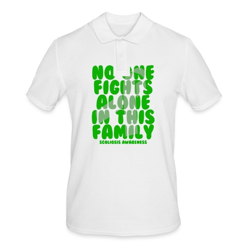 Scoliosis No One Fights Alone in this Family - Men's Polo Shirt