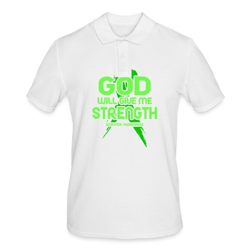Scoliosis God will Give Me Strength! Ribbon - Men's Polo Shirt