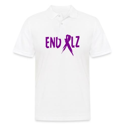 Alzheimer's END ALZ Awareness Ribbon - Men's Polo Shirt