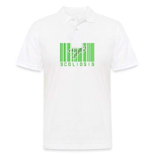 Scoliosis Bar code Awareness Ribbon - Men's Polo Shirt
