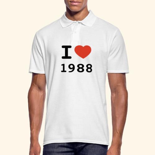I Love 88 b 001 - Männer Poloshirt