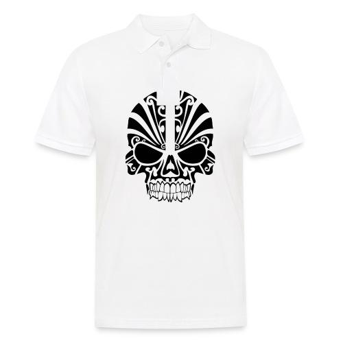 tribal skull - Männer Poloshirt