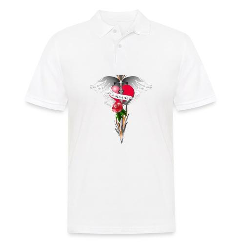 L' Amour - Die Liebe in Flammen - Männer Poloshirt