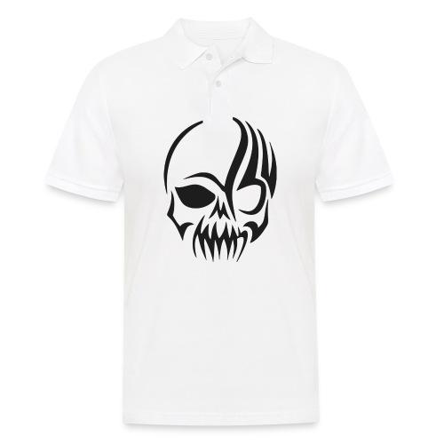 tribals skull - Männer Poloshirt