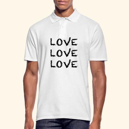 LOVE Black 001 - Männer Poloshirt