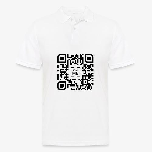 QR code (black) - Men's Polo Shirt