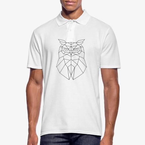 Eule Geometrisch schwarz - Männer Poloshirt
