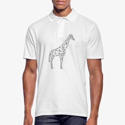 Giraffe Geometrisch schwarz - Männer Poloshirt