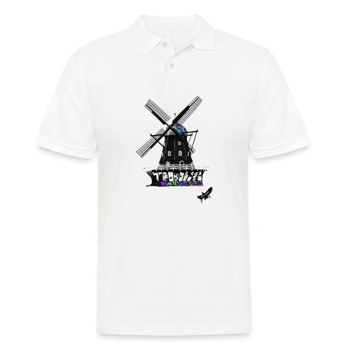 Windmill by BlackenedMoonArts, with logo - Herre poloshirt