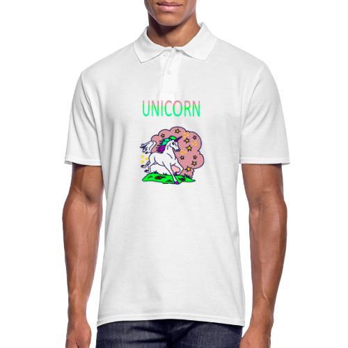 Einhorn unicorn - Männer Poloshirt