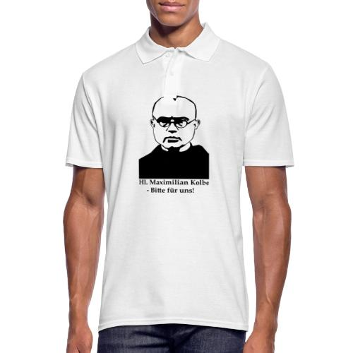 Hl. Maximilian Kolbe - Bitte für uns! - Männer Poloshirt