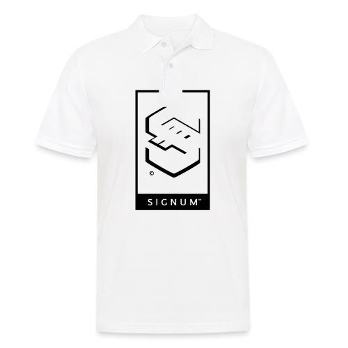 signumGamerLabelBW - Men's Polo Shirt