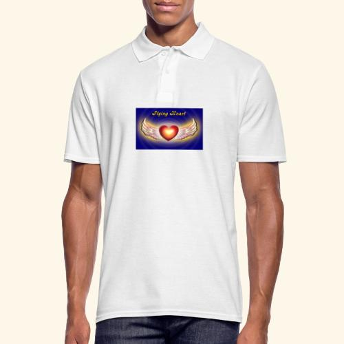 Flying Heart - Männer Poloshirt