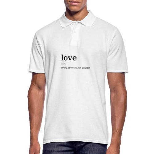 Liebe/Love Definition - Männer Poloshirt
