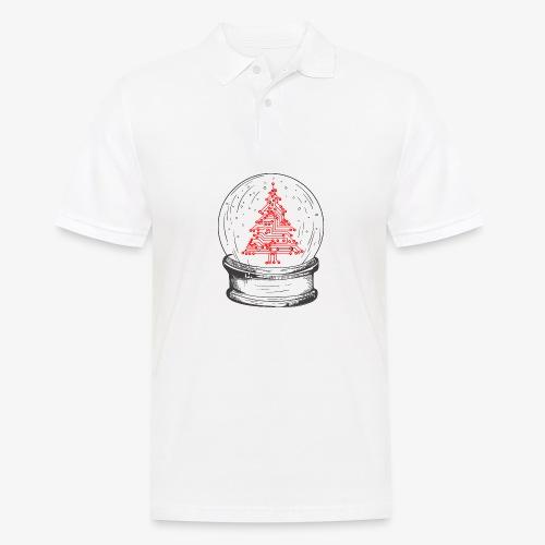 Crystal snow globe | Geeky christmas tree - Men's Polo Shirt