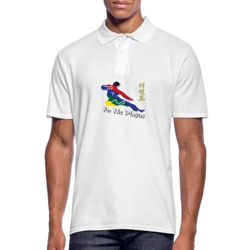 Taekwondo Flying Kicking-man For the Players - Men's Polo Shirt