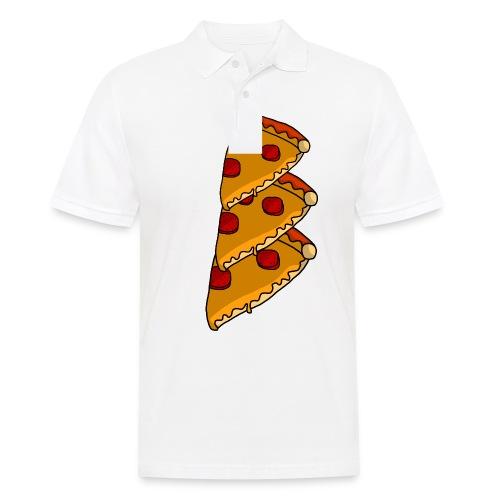 pizza - Herre poloshirt