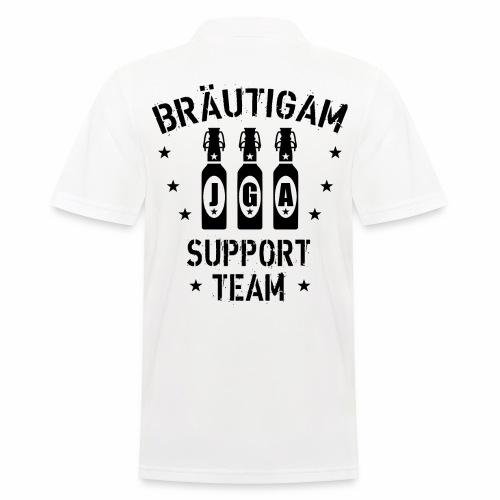 03 JGA Bierflaschen Bräutigam Support Team - Männer Poloshirt