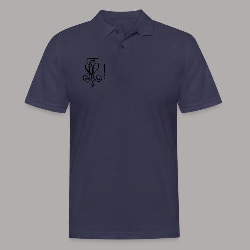 Zirkel, schwarz (vorne) Zirkel, schwarz (hinten) - Männer Poloshirt