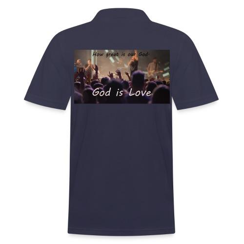 GOD is LOVE. - Männer Poloshirt