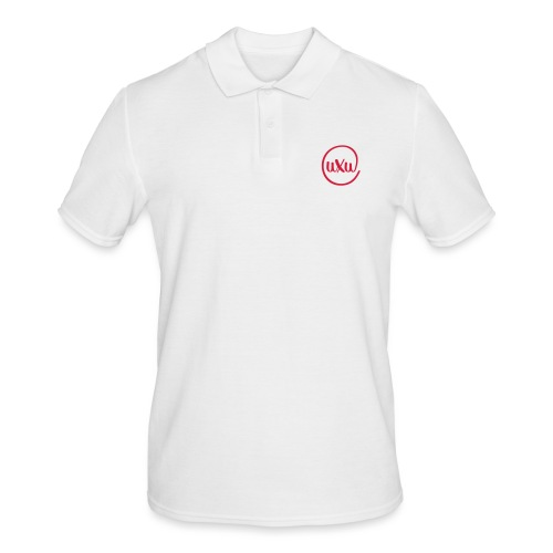 UXU logo round - Mannen poloshirt